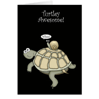 turtle and snail thanks card