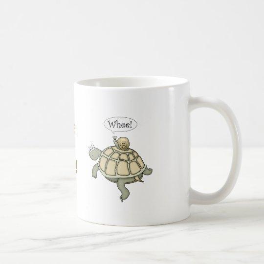 Turtle and snail. Whee! Coffee Mug