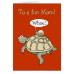 Turtle and snail Whee!  Mother's Day card.