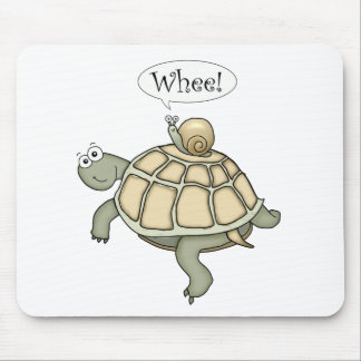 Turtle and snail Whee! Mouse Pad