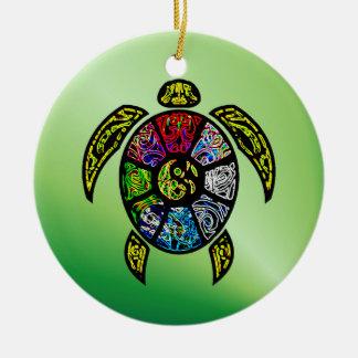 Turtle Ba-Gua Round Ceramic Decoration