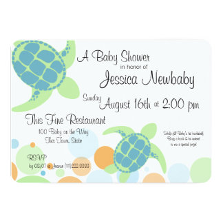 Turtle Baby Shower Card