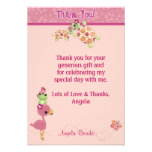 "TURTLE Baby Shower Thank You 3.5""x5"" (FLAT style) Personalized Announcement"