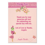 """TURTLE Baby Shower Thank You 3.5""""x5"""" (FLAT style) 9 Cm X 13 Cm Invitation Card"""