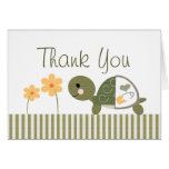 Turtle Baby Shower Thank You Cards Notes