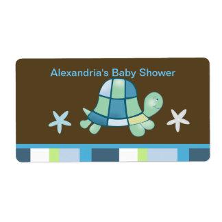 Turtle Bay (Modern Brown)  Water bottle sticker Shipping Label