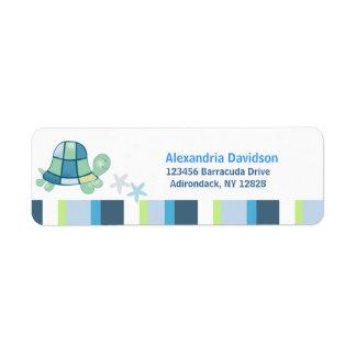 Turtle Bay (White Stripe) Address labels