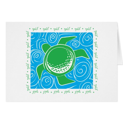Turtle Beach Golf Greeting Card
