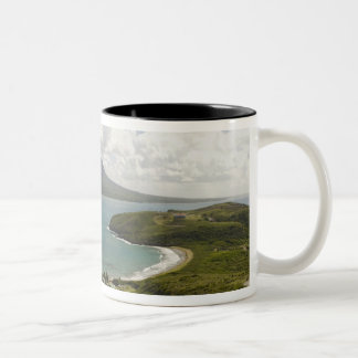 Turtle Beach, southeast peninsula, St Kitts, Two-Tone Coffee Mug