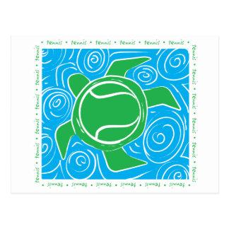 Turtle Beach Tennis Postcard