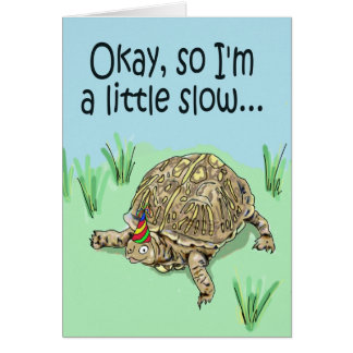 Turtle Belated Late Happy Birthday Card