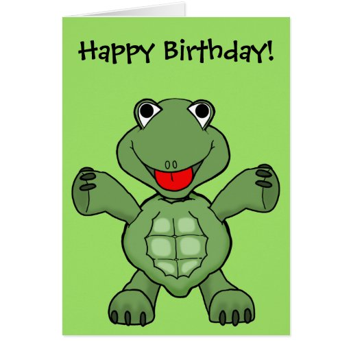 Turtle Birthday Greeting Cards