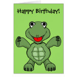 Turtle Birthday Greeting Card
