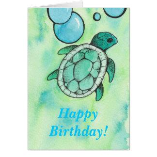 Turtle Birthday Greeting Card