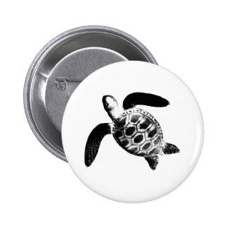 Turtle Black jGibney The MUSEUM Zazzle Gifts 6 Cm Round Badge