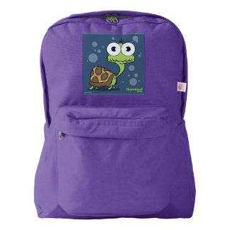 Turtle(Blue Bg) Backpack, Amethyst Backpack
