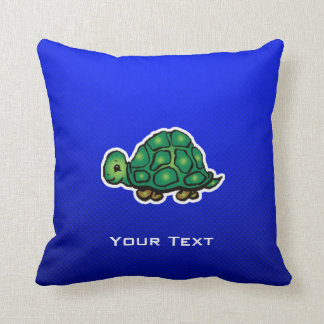 Turtle; Blue Cushion