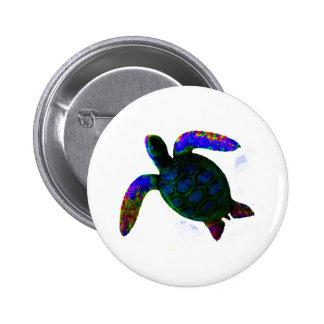 Turtle Blue jGibney The MUSEUM Zazzle Gifts 6 Cm Round Badge