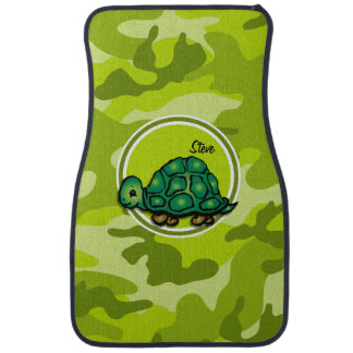 Turtle; bright green camo, camouflage car mat