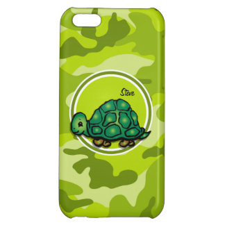 Turtle bright green camo camouflage cover for iPhone 5C
