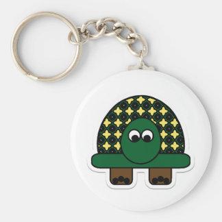 Turtle Cartoon Art Basic Round Button Key Ring