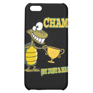 turtle champ by just a hare fable pun iPhone 5C cases