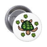 Turtle & Clover Button