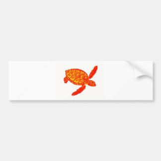 Turtle color bumper sticker