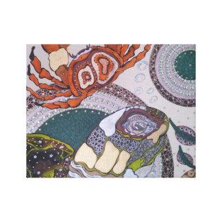 Turtle crab canvas print