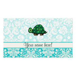 Turtle; Cute Double-Sided Standard Business Cards (Pack Of 100)