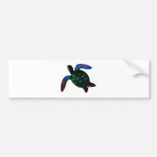 Turtle Cyan The MUSEUM Zazzle Gifts Bumper Stickers