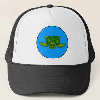 Turtle design trucker hat
