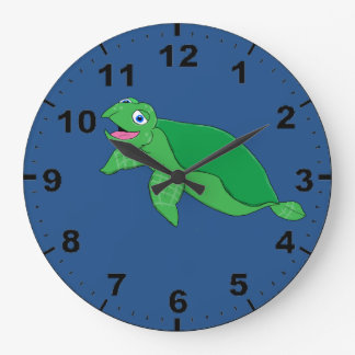 Turtle design wrist watches large clock