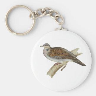 Turtle Dove Basic Round Button Key Ring