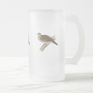 Turtle Dove Frosted Glass Mug