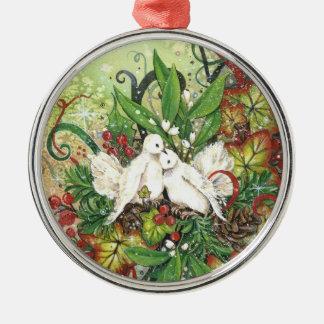 Turtle Doves & Deco Ornament