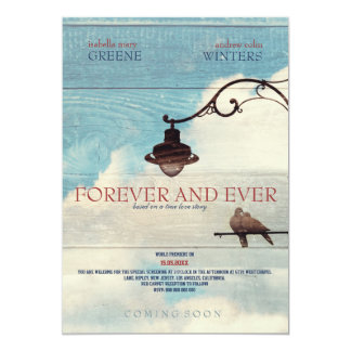 Turtle Doves - FOREVER AND EVER 13 Cm X 18 Cm Invitation Card