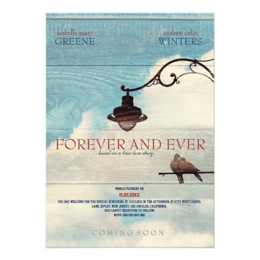 Turtle Doves - FOREVER AND EVER Custom Invitations