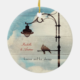 Turtle Doves - love and faithfulness Christmas Ornament