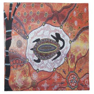 Turtle Dreaming Aboriginal Art Napkins