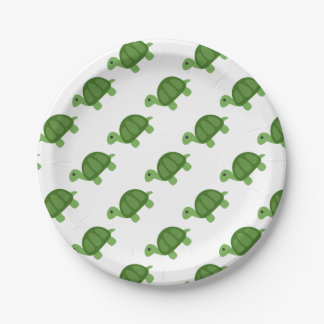 Turtle Emoji 7 Inch Paper Plate