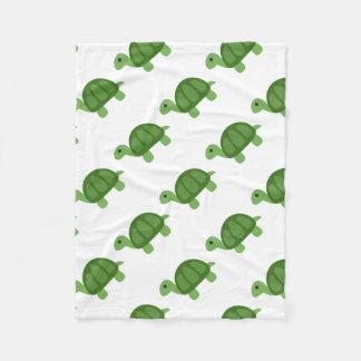 Turtle Emoji Fleece Blanket
