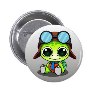 Turtle Explorer 6 Cm Round Badge