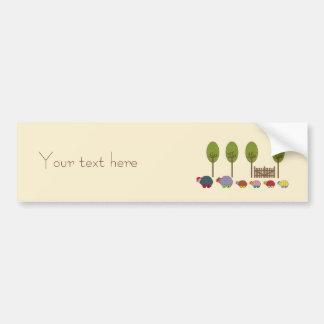 Turtle Family Bumper Sticker