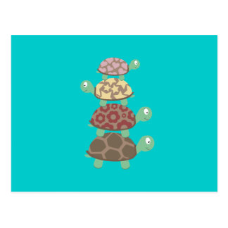 Turtle family postcard