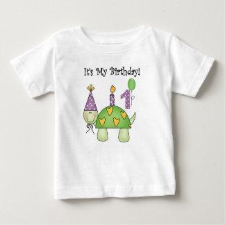 Turtle First Birthday Baby T-Shirt