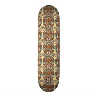 Turtle Floral Pattern 20 Cm Skateboard Deck
