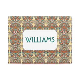 Turtle Floral Pattern | Add Your Name Doormat