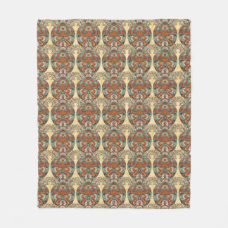 Turtle Floral Pattern Fleece Blanket