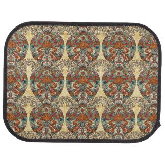 Turtle Floral Pattern Floor Mat